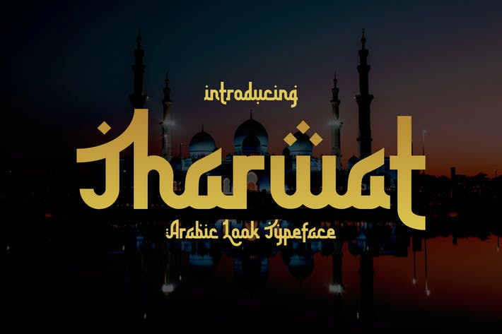 Thumbnail for Tharwat - Arabic looking font