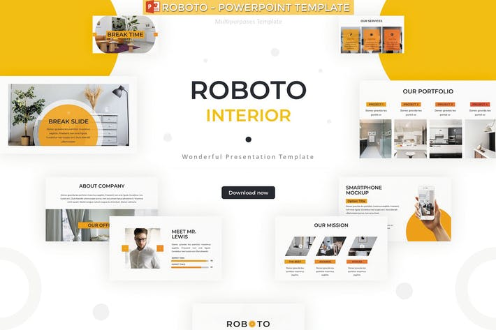 Thumbnail for Roboto - Powerpoint Template