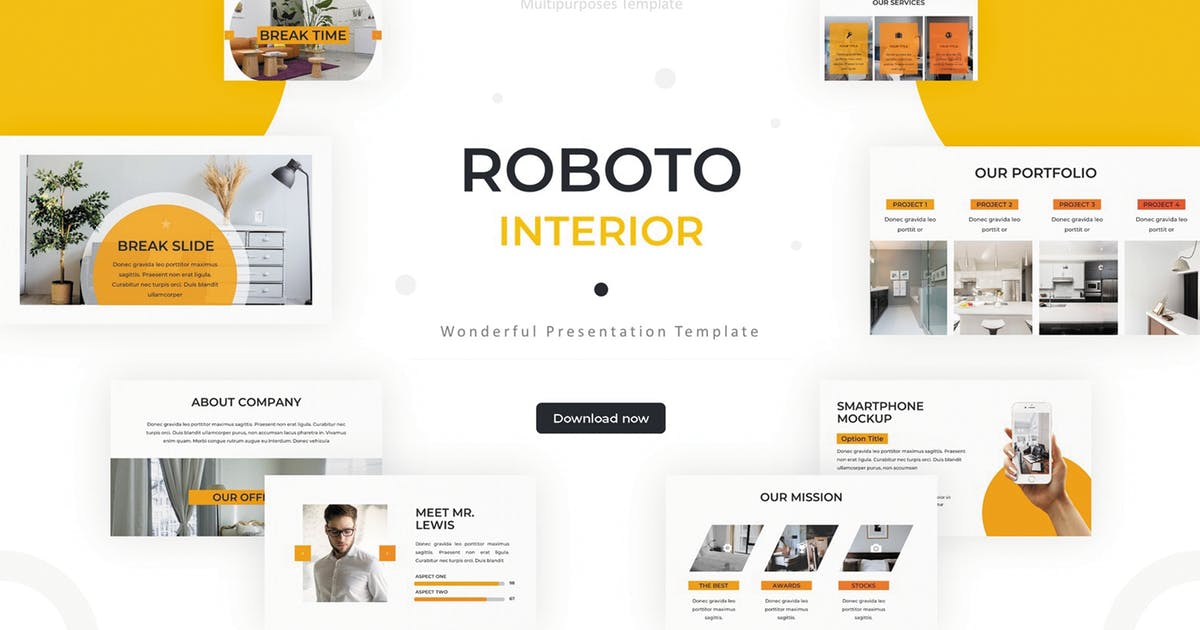 Download Roboto - Powerpoint Template by SlideFactory