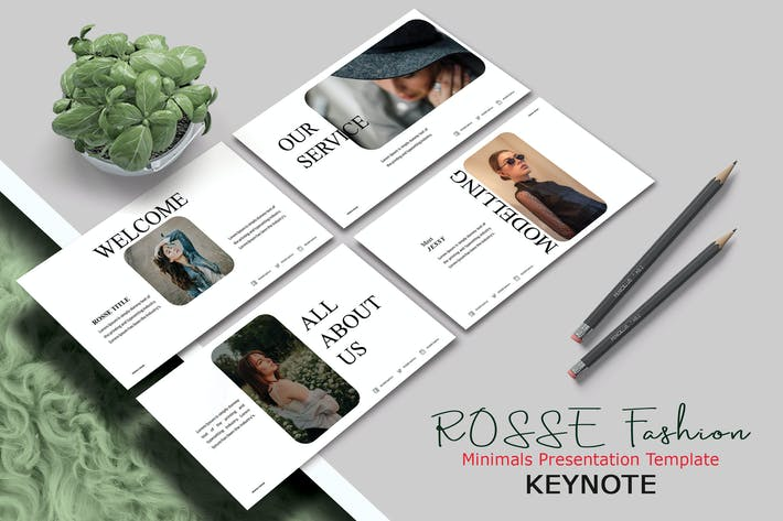 Thumbnail for ROSSE FASHION - Шаблон Keynote