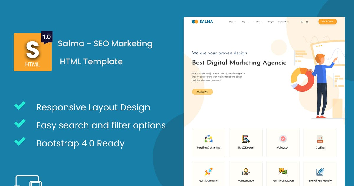 Download Salma - SEO Marketing HTML Template by Nile-Theme