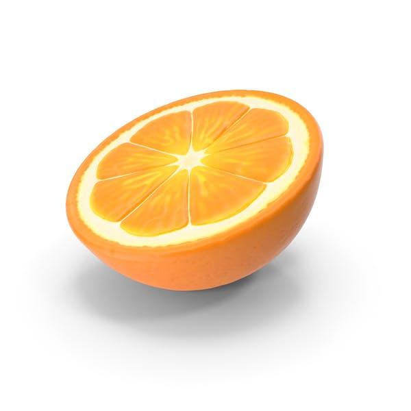 Половина свежих апельсиновых фруктов
