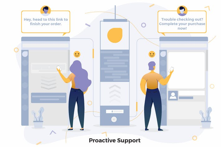 Thumbnail for Proactive Support Illustrations CRM