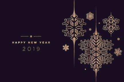 Carte de vœux Nouvel An
