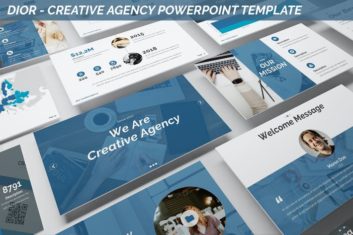 Thumbnail for Dior - Agency Powerpoint Template
