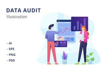 Ilustración de auditoría de datos
