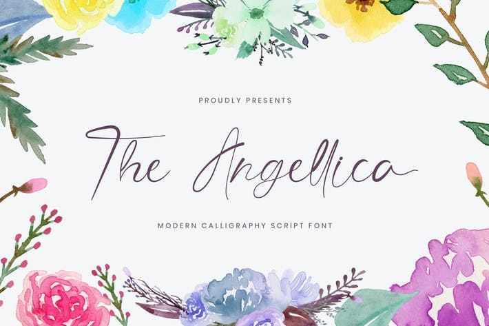 Thumbnail for The Angellica - Modern Calligraphy Font