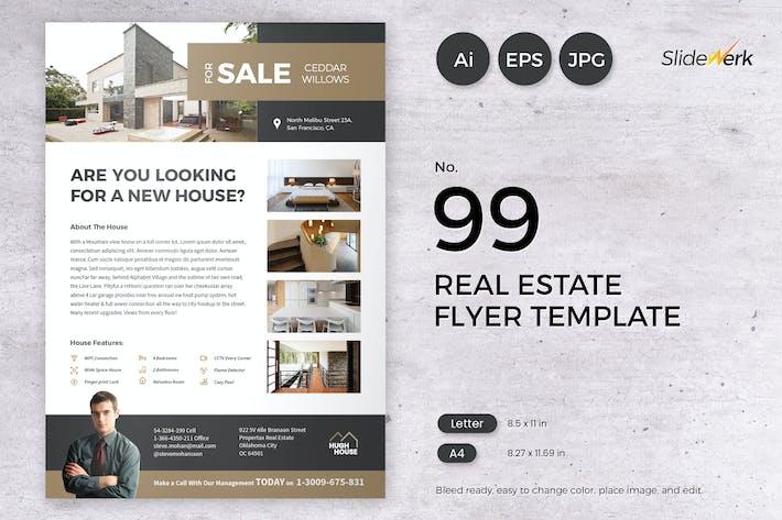 Thumbnail for Real Estate Flyer Template 99 - Slidewerk