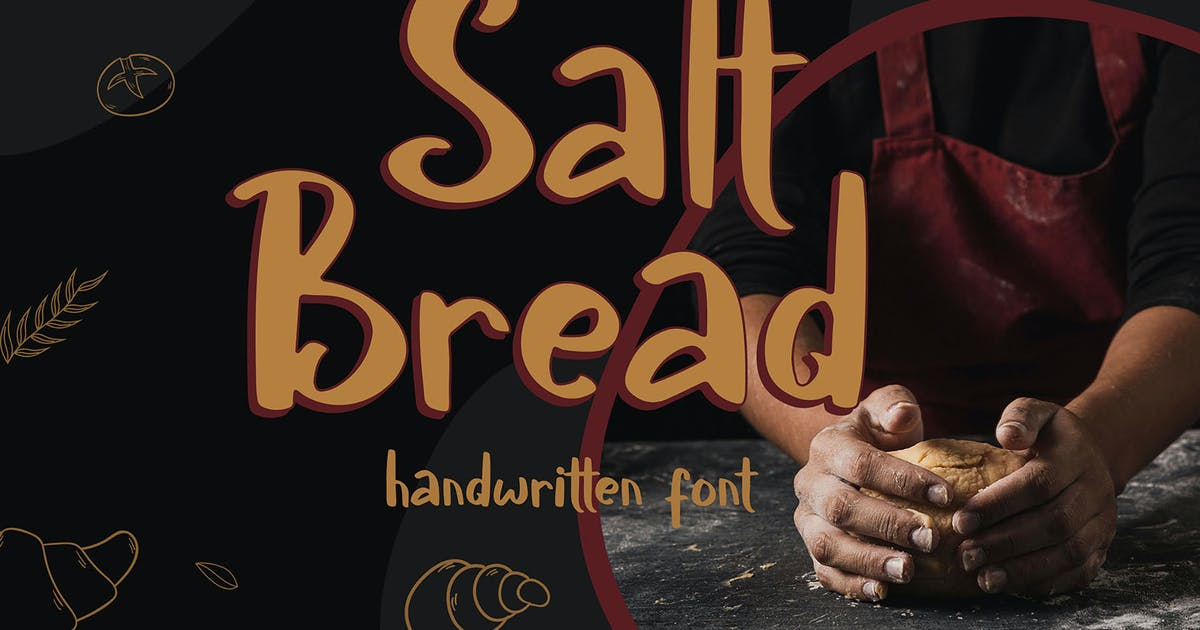 Download Salt Bread - Handwritten Font by axelartstudio
