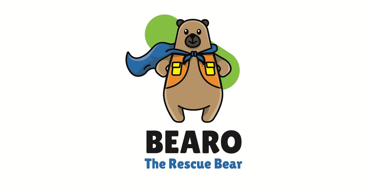 Download bear rescue - Mascot Logo by aqrstudio