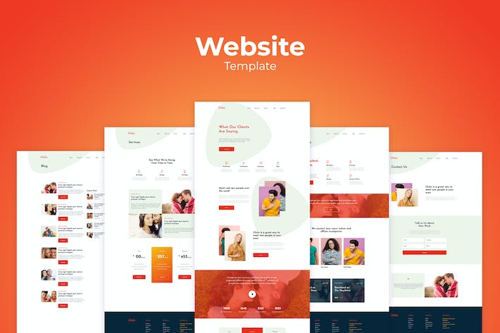 Thumbnail for Agency Business Website Templates