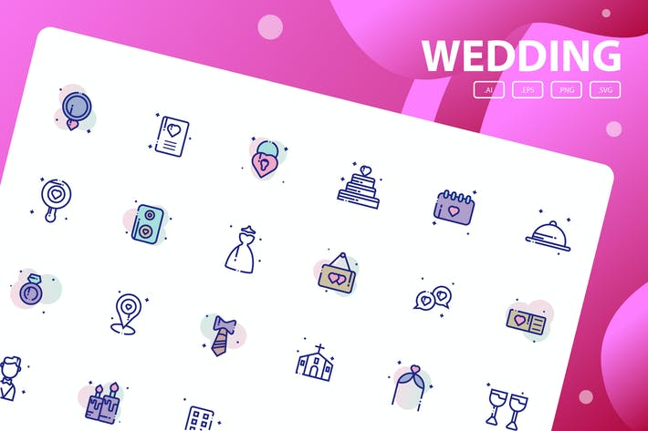 Thumbnail for Wedding Icon Pack