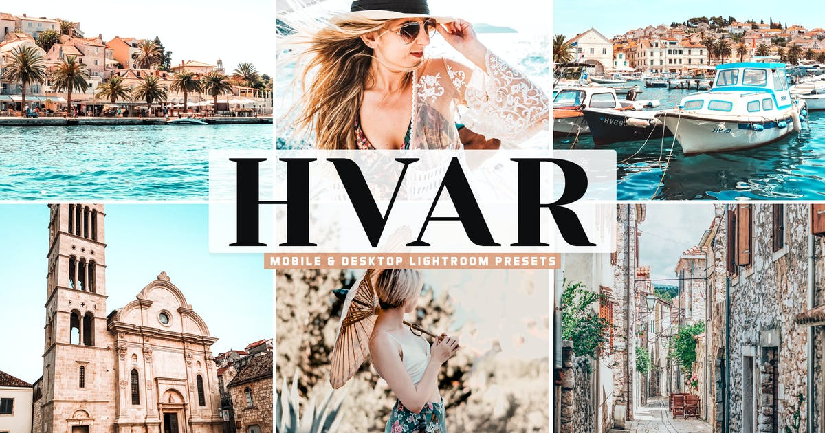Download Hvar Mobile & Desktop Lightroom Presets by creativetacos