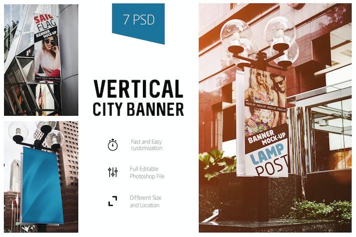Vertical City Banner Mock-Up