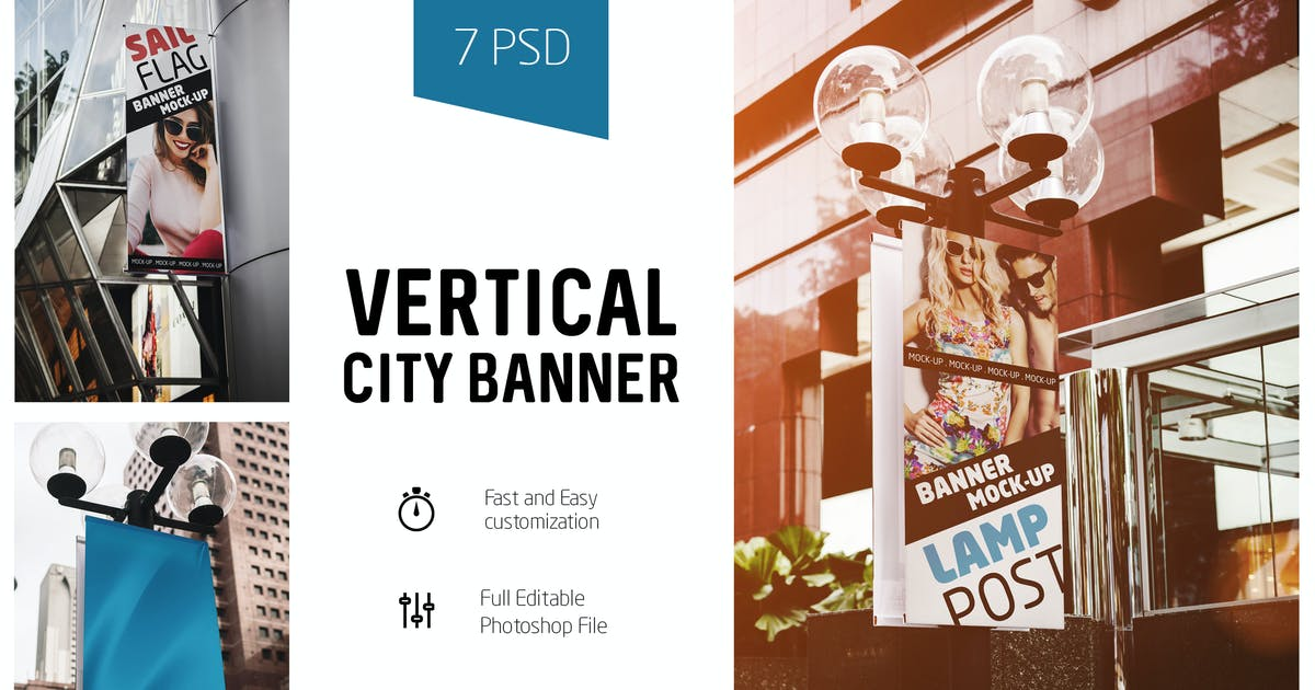 Download Vertical City Banner Mock-Up by Temaphoto