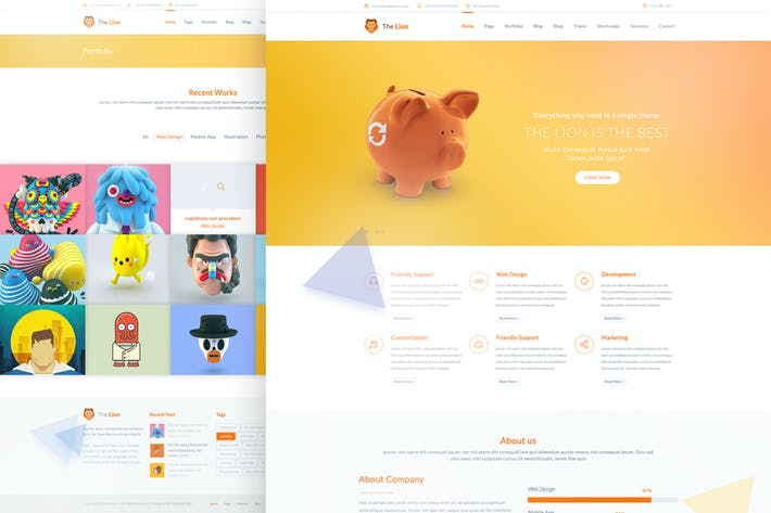 Thumbnail for The Lion - Multi-Purpose PSD Template