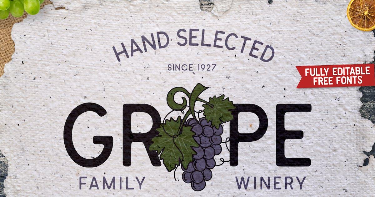 Download Winery Vintage Logo Design Retro Wine Vector Badge by JeksonJS