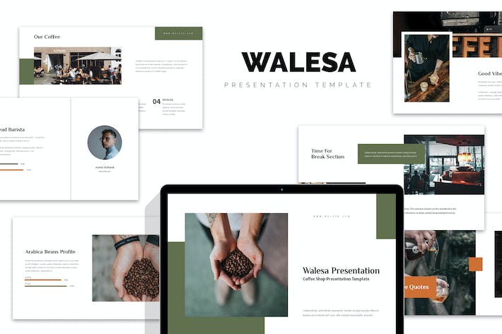 Thumbnail for Walesa : Coffee Shop & Roastery Keynote