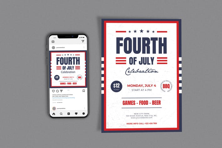 Fourth Of July Template Set
