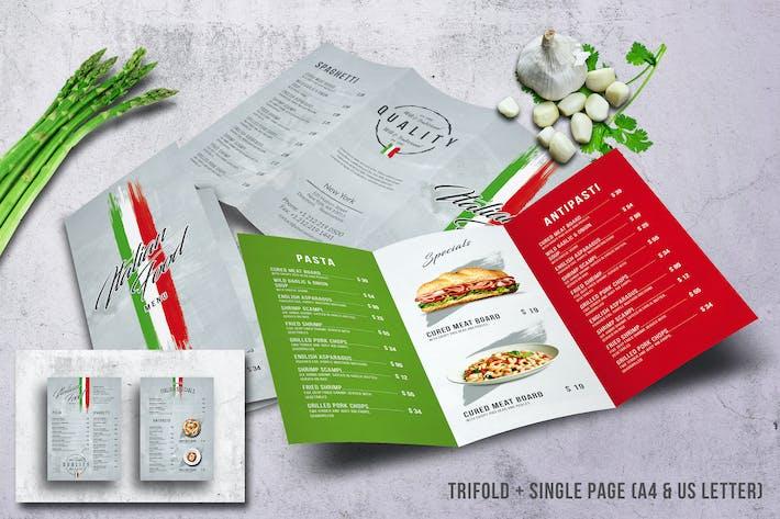 Thumbnail for Italian  Food Menu Bundle A4 & US Letter