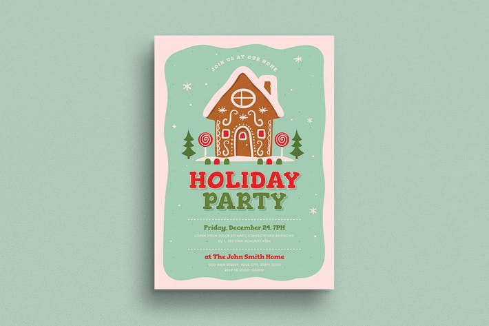 Thumbnail for Holiday Party Invitation / Flyer