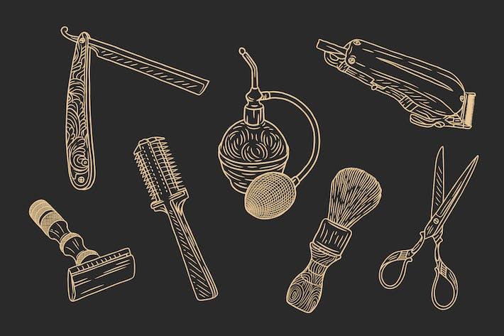 Thumbnail for Kit Barbería - Vector