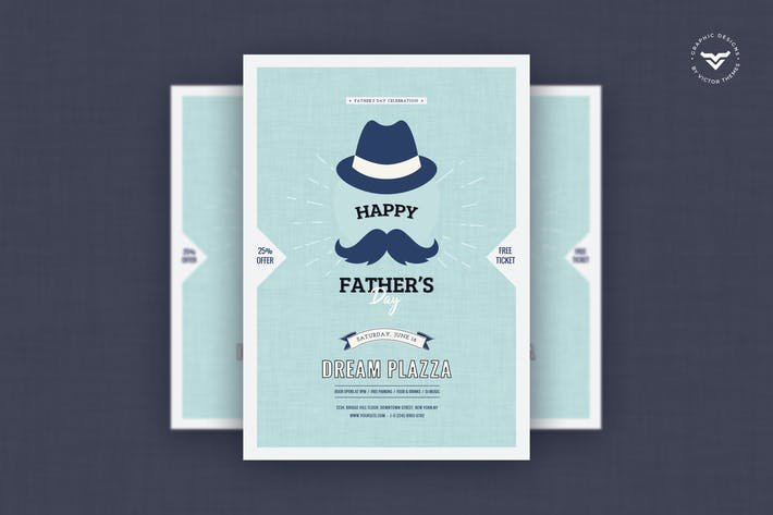 Thumbnail for Fathers Day Flyer Template