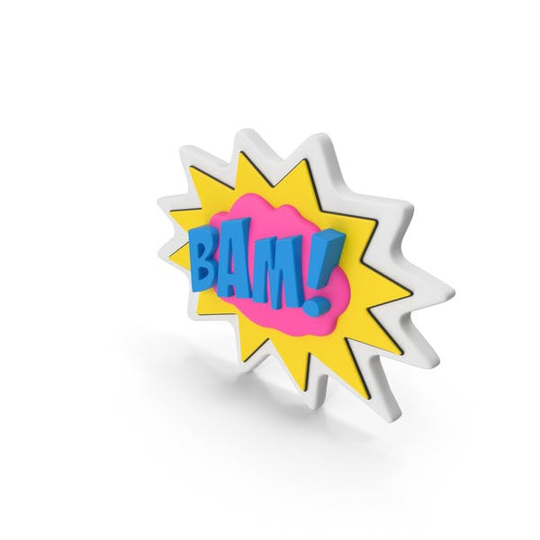 Colorful Comic Label BAM