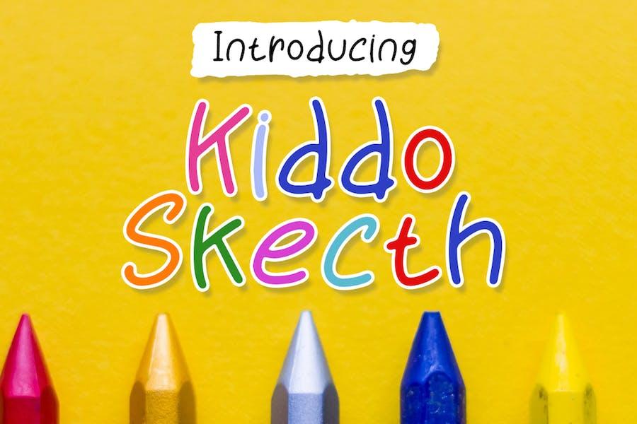 Kiddo Sketch - Playful Font