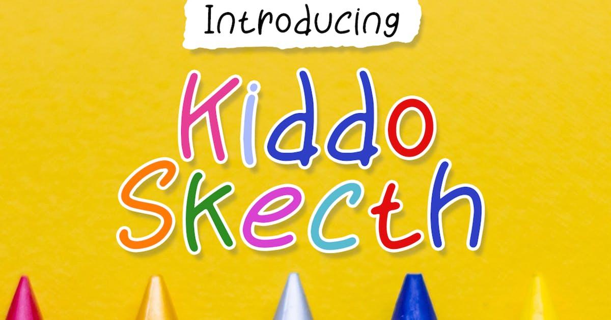 Download Kiddo Sketch - Playful Font by Attype-Studio