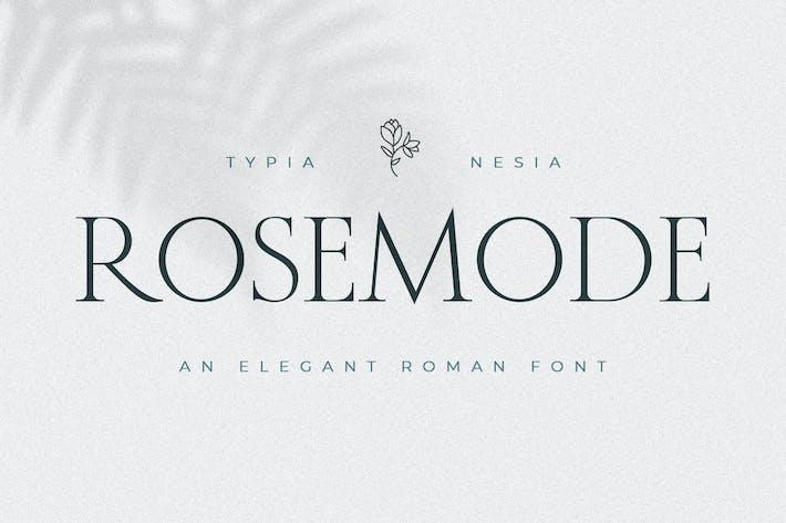 Rosemode - Con serifa romano clásico y atemporal