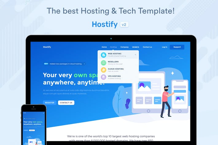 Cover Image For Hostify — Hosting HTML & WHMCS Template