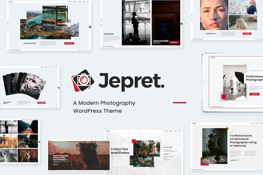 Fotografía moderna WordPress Tema - Jepret