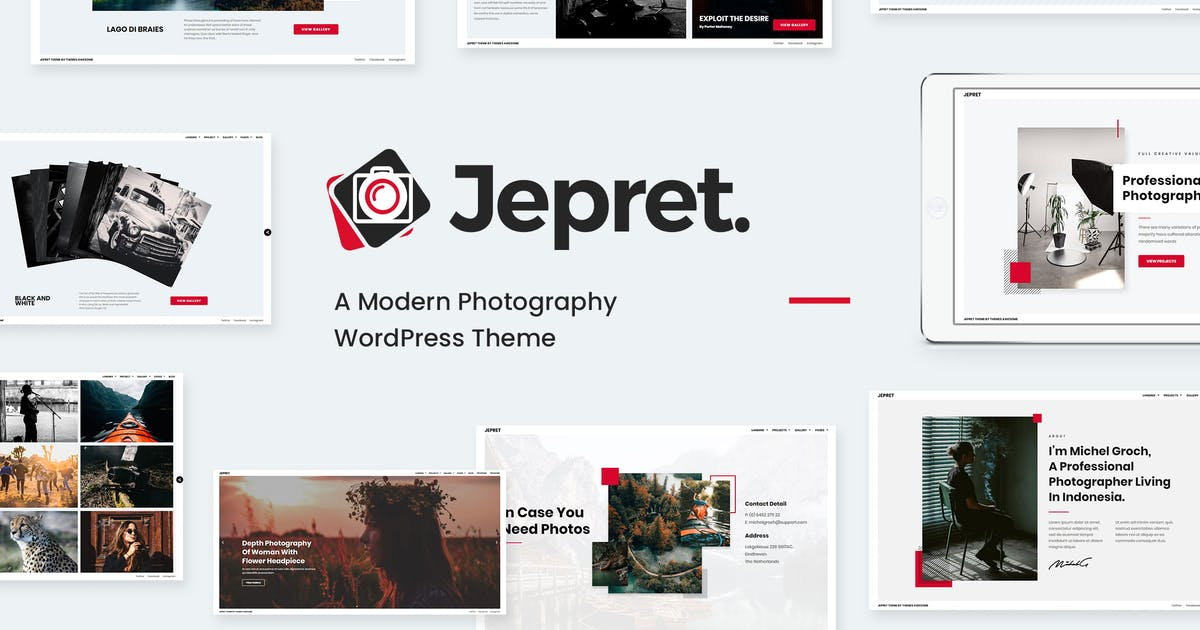 Download Modern Photography WordPress Theme - Jepret by themesawesome