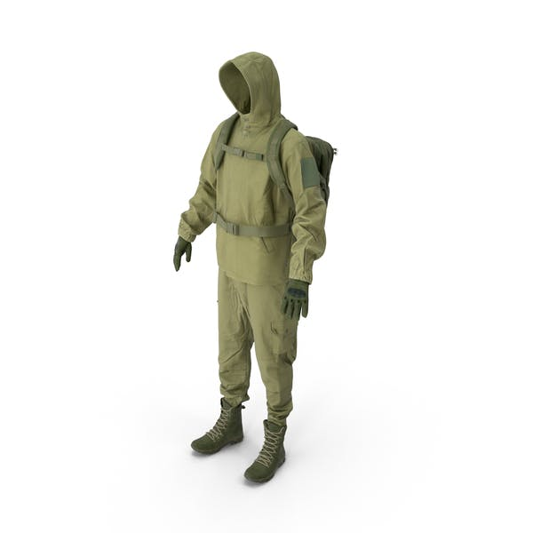 Thumbnail for Military Green Uniform With Boots Gloves Backpack