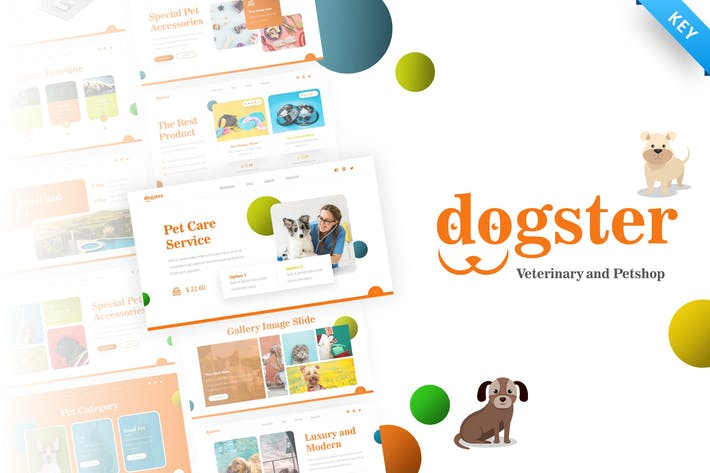 Thumbnail for Dogster Animal Keynote Presentation Template