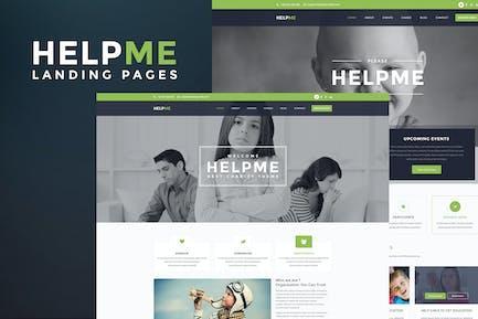 HelpMe - Nonprofit Landing Page Template