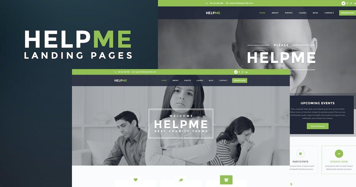 Download HelpMe - Nonprofit Landing Page Template by DesignsVilla