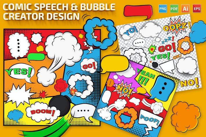 Cover Image For Comic Speech & Bubble Creator