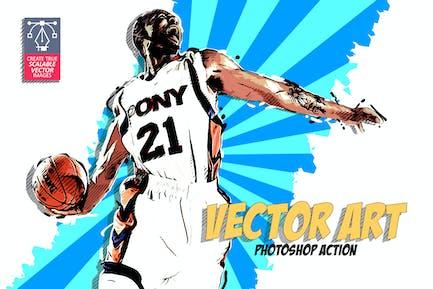 Vector Art Photoshop Acción