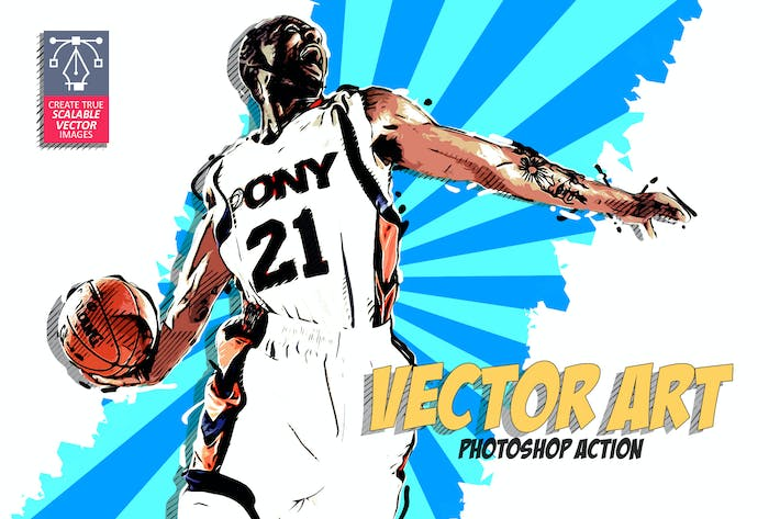 Thumbnail for Vector Art Photoshop Action