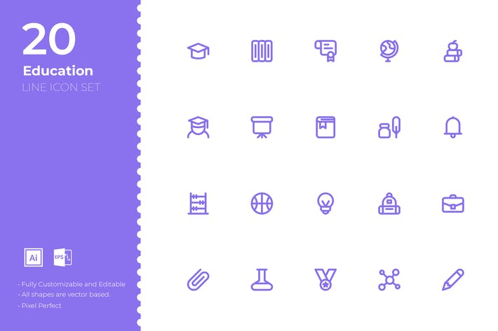 Thumbnail for SRTP- Education Icon Set
