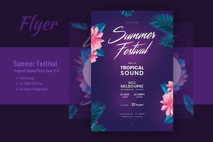 Thumbnail for Summer Festival & Tropical Sound Flyer V-5