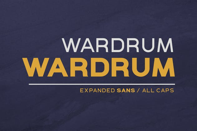 WARDRUM - Expanded Sans - product preview 0