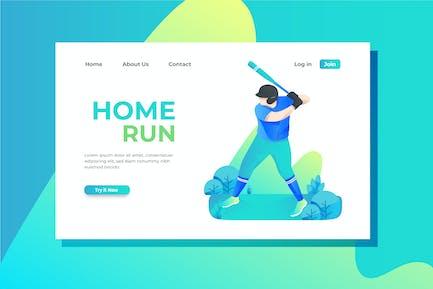 Baseball Landing Page Illustration