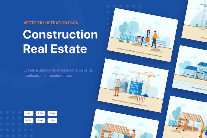 Thumbnail for Construction & Real Estate Vector Illustration_v3
