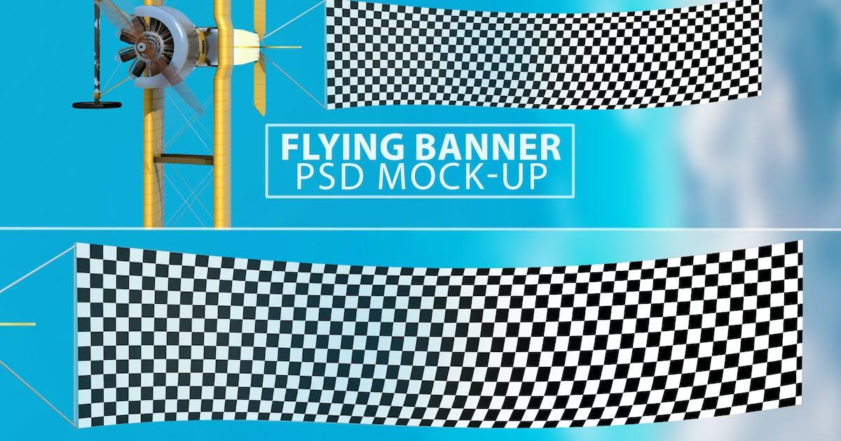Download Flying Banner PSD Mock-up by Abdelrahman_El-masry
