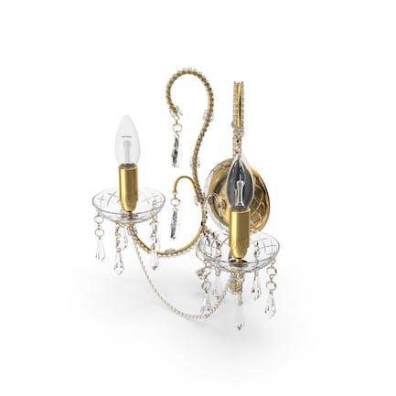 2 Bulbs off  Wall Classical Crystal Lamp