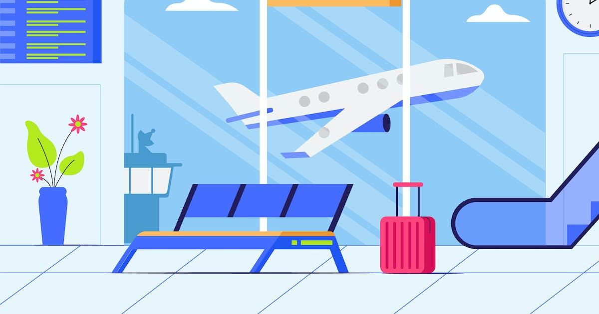 Download Airport - Background Illustration by deemakdaksinas