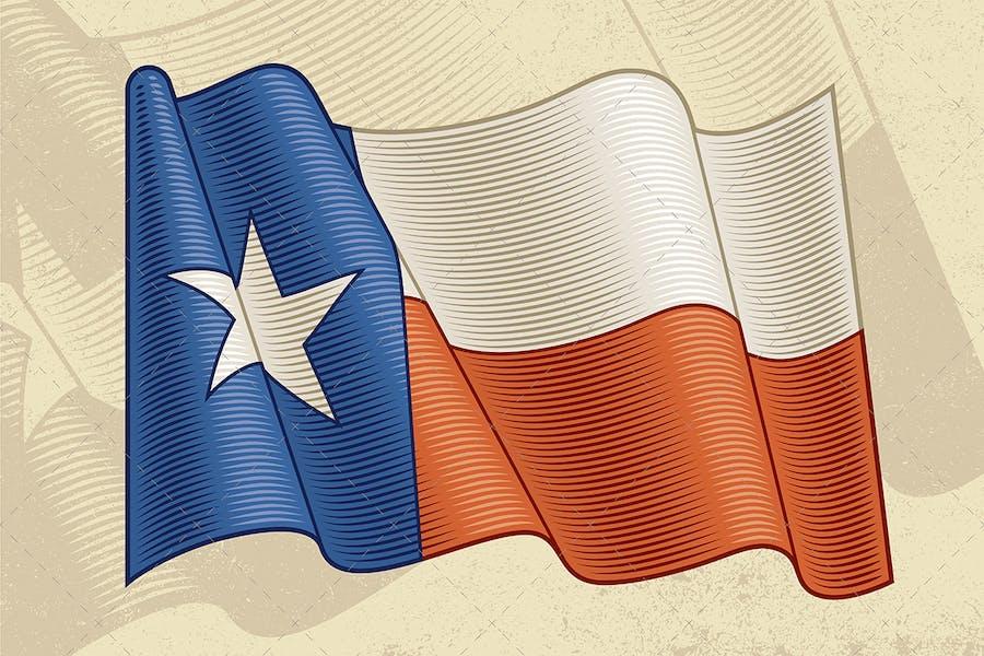 Vintage Flag Of Texas